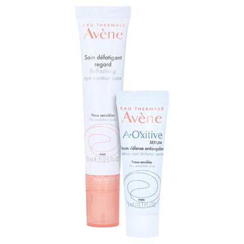 Avène Les Essentiels Belebende Augencreme + gratis Avène A-OXitive SERUM Schützendes Antioxidans-Serum 5 ml 15 Milliliter