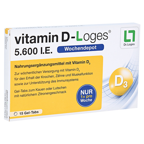vitamin D-Loges 5.600 I.E. 15 Stück