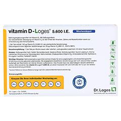 vitamin D-Loges 5.600 I.E. Wochendepot 60 Stück - Rückseite