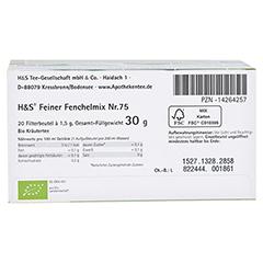 H&S Bio Baby- u.Kindertee Feiner Fenchelmix Fbtl. 20x1.5 Gramm - Unterseite