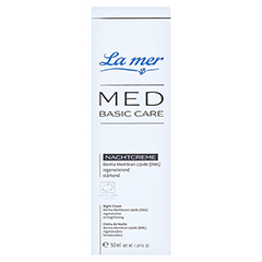 LA MER MED Basic Care Nachtcreme o.Parfüm 50 Milliliter - Vorderseite