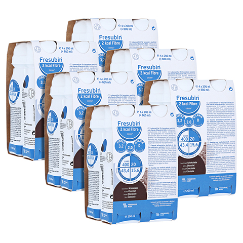 Fresubin 2 kcal Fibre DRINK Schokolade Trinkflaschen 24x200 Milliliter