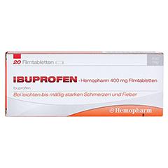 Ibuprofen-Hemopharm 400mg 20 Stück - Vorderseite