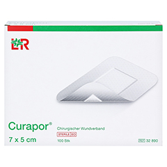 CURAPOR Wundverband steril 5x7 cm 100 Stück - Vorderseite