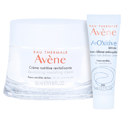 Avène Les Essentiels Revitalisierende Nutritive Creme + gratis Avène A-OXitive SERUM Schützendes Antioxidans-Serum 5 ml 50 Milliliter