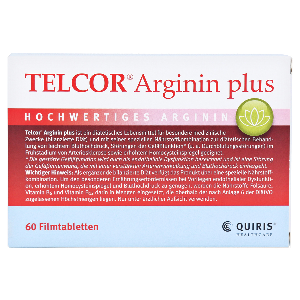 telcor arginin plus filmtabletten 60 st ck online. Black Bedroom Furniture Sets. Home Design Ideas