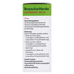 BronchoVerde Hustensaft 100 Milliliter N3 - Linke Seite