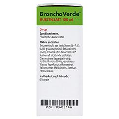 BronchoVerde Hustensaft 100 Milliliter N3 - Rechte Seite