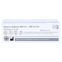 HEPARIN SODIUM 500 I.U. - 100 I.U./ml Ampullen 10x5 Milliliter - Unterseite