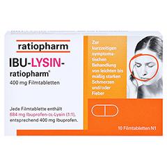 IBU-LYSIN-ratiopharm 400mg 10 Stück N1 - Vorderseite