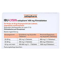 IBU-LYSIN-ratiopharm 400mg 10 Stück N1 - Rückseite