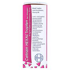 Cetirizin HEXAL bei Allergien 10mg/ml 10 Milliliter N1 - Linke Seite