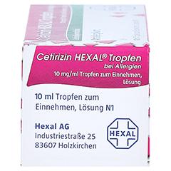 Cetirizin HEXAL bei Allergien 10mg/ml 10 Milliliter N1 - Unterseite