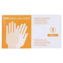 VINYL Handschuhe ungepudert Gr. S 100 Stück - Vorderseite