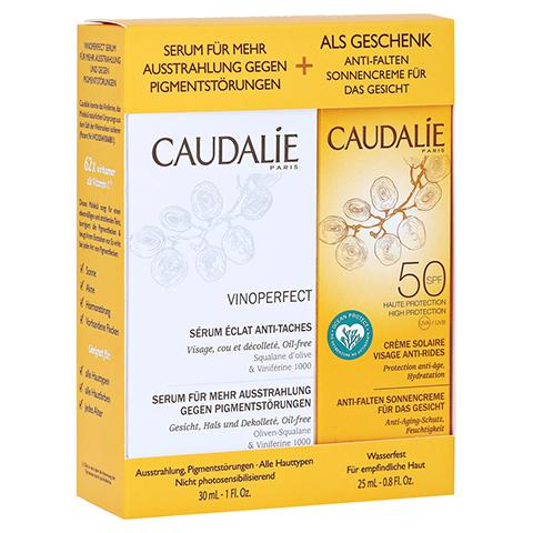 Caudalie Vinoperfect Serum + gratis Caudalie Sonnencreme SPF 50 25ml 30 Milliliter