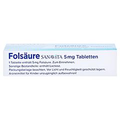 Folsäure Sanavita 5mg 20 Stück N1 - Oberseite
