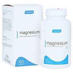 NUPURE magnesium mit Magnesiumcitrat Kapseln 180 Stück