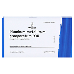 PLUMBUM METALLICUM praep. D 30 Ampullen 8x1 Milliliter N1 - Vorderseite