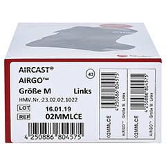 AIRCAST Airgo Sprunggelenkorthese links M 1 Stück - Unterseite
