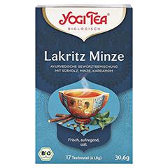 YOGI TEA Lakritz Minze Bio Filterbeutel 17x1.8 Gramm - Vorderseite