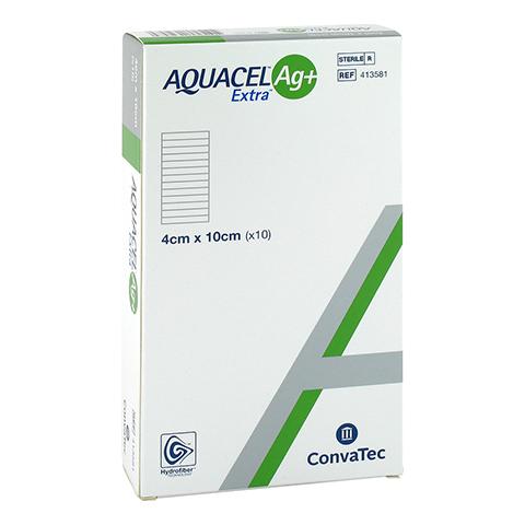 AQUACEL Ag+ Extra 4x10 cm Kompressen 10 Stück