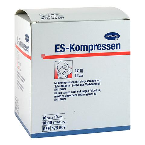 ES-KOMPRESSEN steril 10x10 cm 12fach CPC Großpack. 10x10 Stück