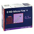 BD MICRO-FINE+ Insulinspr.0,5 ml U100 0,3x8 mm 100 Stück