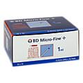BD MICRO-FINE+ Insulinspr.1 ml U100 0,33x12,7 mm 100 Stück
