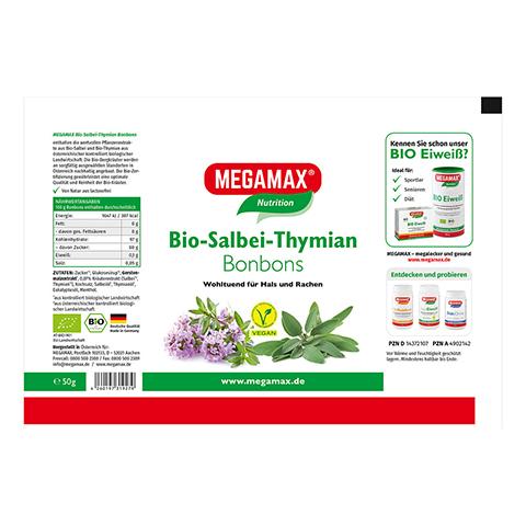 MEGAMAX Bio Salbei-Thymian Bonbons 50 Gramm