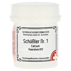 SCHÜSSLER Nr.1 Calcium fluoratum D 12 Tabletten 400 Stück