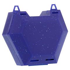 ZAHNSPANGENBOX mit Kordel blau mit Glitzer 1 Stück