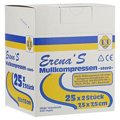 ERENA STERIL Mullkompr.7,5x7,5 cm 8fach 25x2 Stück
