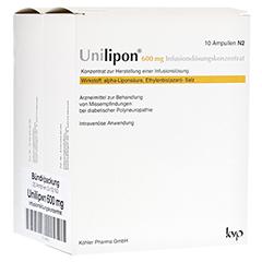 UNILIPON 600 Infusionslösungskonzentrat 1x20 Stück N3