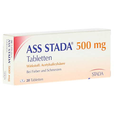 ASS STADA 500mg 20 Stück