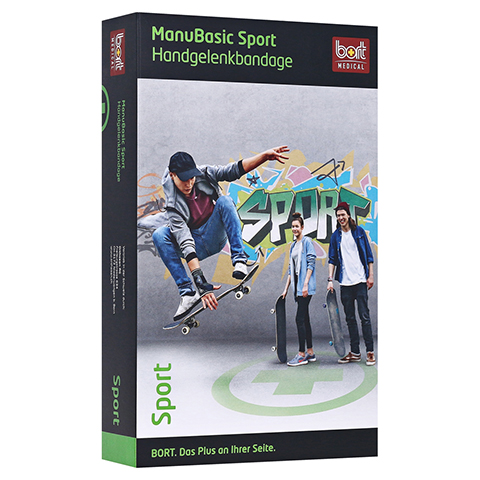 BORT ManuBasic Sport Bandage re.large schw/grün 1 Stück