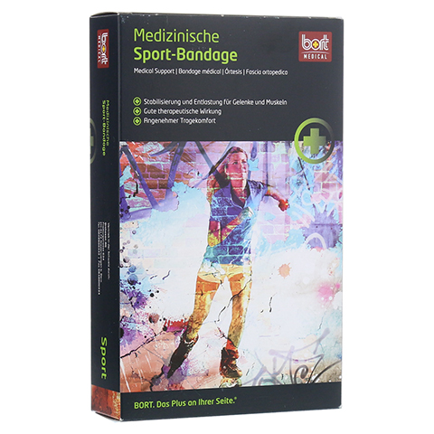 BORT ManuBasic Sport Bandage re.x-large schw/grün 1 Stück