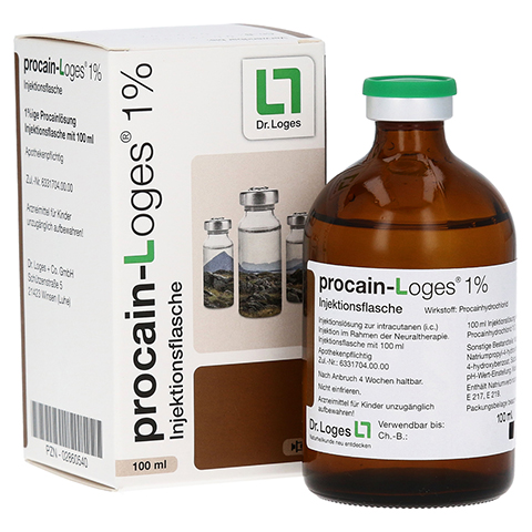 PROCAIN Loges 1% Injektionsflasche 100 Milliliter N3