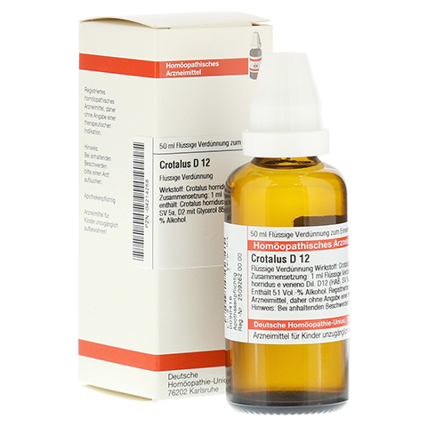 CROTALUS D 12 Dilution 50 Milliliter N1