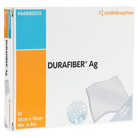 DURAFIBER Ag 10x10 cm Verband 10 Stück