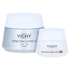 Vichy Liftactiv Supreme Anti-Age Tagespflege für trockene Haut + gratis Vichy Liftactiv Collagen Specialist Nacht 15ml 50 Milliliter