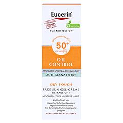 EUCERIN Sun Gel-Creme Oil Contr.Anti-Gl.Eff.LSF50+ 50 Milliliter - Vorderseite