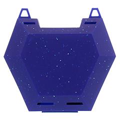 ZAHNSPANGENBOX mit Kordel blau mit Glitzer 1 Stück - Vorderseite