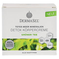 DERMASEL Körpercreme grüner Tee 200 Milliliter - Vorderseite