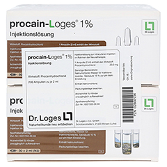 PROCAIN Loges 1% Injektionslösung Ampullen 200x2 Milliliter - Vorderseite