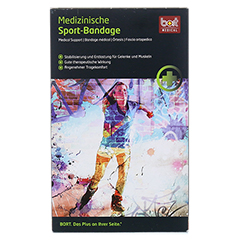 BORT ManuBasic Sport Bandage re.x-large schw/grün 1 Stück - Vorderseite