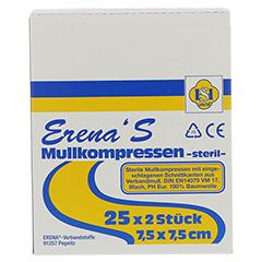 ERENA STERIL Mullkompr.7,5x7,5 cm 8fach 25x2 Stück - Vorderseite