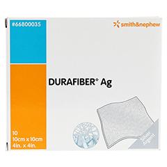 DURAFIBER Ag 10x10 cm Verband 10 Stück - Vorderseite