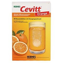 HERMES Cevitt Orange Brausetabletten 60 Stück - Vorderseite