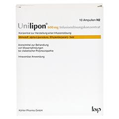 UNILIPON 600 Infusionslösungskonzentrat 1x20 Stück N3 - Vorderseite