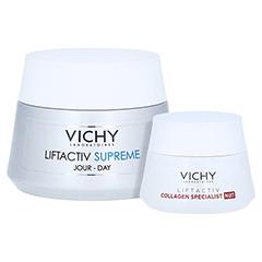 Vichy Liftactiv Supreme Anti-Age Tagespflege für normale bis Mischhaut + gratis Vichy Liftactiv Collagen Specialist Nacht 15ml 50 Milliliter